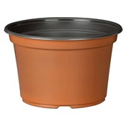 DILLEN® CO-EXTRUDED THERMOFORMED 8IN CONTAINERS - TERRA COTTA OUTSIDE/BLACK INSIDE - (10500/PL/CS)