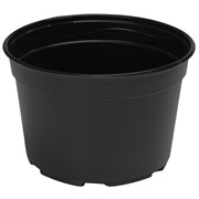 Landmark 9in Mum Pan - Thermoformed - Round - Black - Sold By 100 Per Case