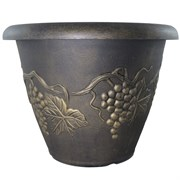 Grower Select 21.00 Grapevine Pot Black With Gold Each 268/PL