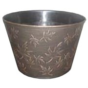 Grower Select Fall #1 Cover Pot 10.75in Black/Bronze Wash (50/cs)