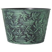 Grower Select Fall #1 Cover Pot 10.75in Black/Green Wash (50/cs)