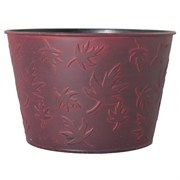 Grower Select Fall #1 Cover Pot 10.75in Black/Red Wash (50/cs)