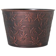 Grower Select Fall #2 Cover Pot 8in Black/Copper Wash (124/cs)