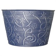 Grower Select Snowflake Cover Pot Blue/Silver (60/cs) Snowflake1