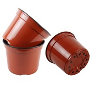 Grower Select 4In Round Co-Extruded Standard Pot - Terra Cotta