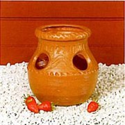 Union Products Aztec Strawberry Jar - 4 Holes - Terra Cotta Color (12/cs)