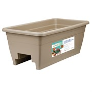 "HC 24"" Deck Rail Box Planter Mocha"