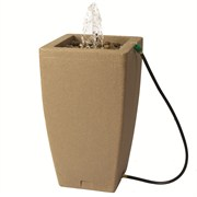 Algreen Madison 49gal Rain Barrel with Fountain - Sandstone