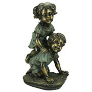 "Alpine 18"" Girl BoyPlaying Statue"