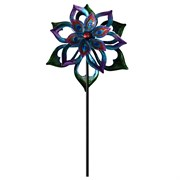 Alpine Metal Double-Sided Flower Spinning Garden Stake