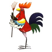 Alpine Colorful Rooster w/ Rake