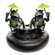 Alpine Metal Double Frogs Fountain