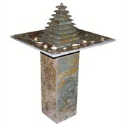 Alpine Square Tiers Floo Natural Stone Fountain
