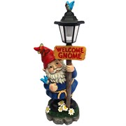 Alpine Welcome Gnome w/St Light and WT LEDs