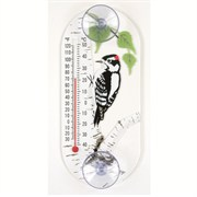 Aspects Woodpecker Window Thermometer