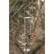 Aspects Medium Brushed Nickel Seed Tube Feeder Quick Clean