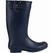 Brier Navy Gusseted Rubber Boot SZ 7