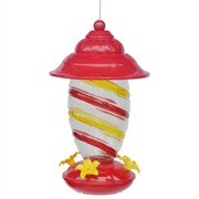 Friends of Flight 27oz Glass Red Hummingbird Feeder w/ Plastic Top & Base