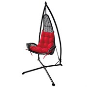 DDI Wicker Hammock Chair Red w Cupholder
