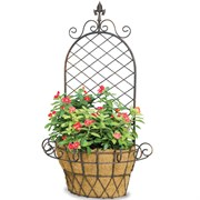 Deer Park Finial X Wall Basket With Coco Liner