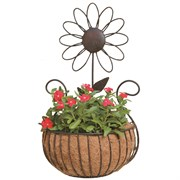 Deer Park Daisy Wall Basket With Coco Liner