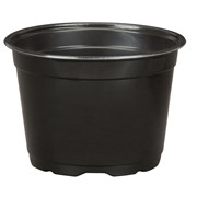 DILLEN® CO-EXTRUDED ROUND POTS 6IN - BLACK - (12792/PL)
