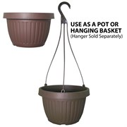 Grower Select 10.5in Combo Pot w/Dish Brown 50/cs 40cs/plt