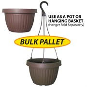 Grower Select 10.5in Combo Pot No Dish BULK Brown 2200/plt