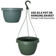 Grower Select 10.5in Combo Pot w/Dish Green 50/cs 40cs/plt