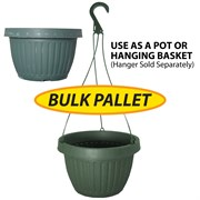 Grower Select 10.5in Combo Pot No Dish BULK Green 2200/plt
