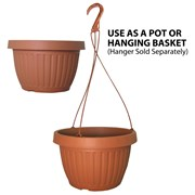 Grower Select 10.5in Combo Pot w/Dish Clay 50/cs 40cs/plt