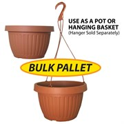 Grower Select 10.5in Combo Pot w/Dish BULK Clay 2200/plt