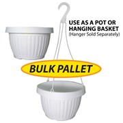 Grower Select 10.5in Combo Pot w/Dish BULK White 2200/plt
