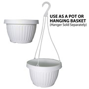 Grower Select 10.5in Combo Pot w/Dish White 50/cs 40cs/plt