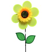 Gardener Select Yellow Pinwheel with Flower & Leaves 11in x 16in