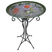 Gardener Select Mosaic Hummingbird Bird Bath