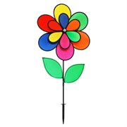 Gardener Select Multi Colored 12-Petal Pinwheel with Leaves 18in x 28in
