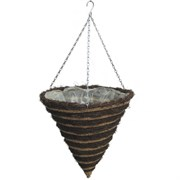"Gardener Select 14"" Cone H/B Striped Resin Wicke"
