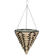 "Gardener Select 14"" Cone Hanging Basket White"