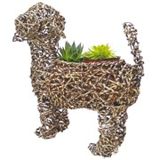 "Gardener Select 15"" Lg Dog Rattan Rope Topiary"