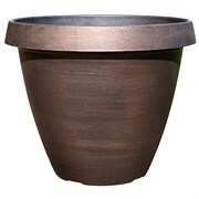 Grower Select 14.5In Round Cove Planter - Copper - 30 Per Case