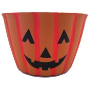 Grower Select 9In Little Harvey Pumpkin Cover Pot - Orange With Face - 90 Per Case