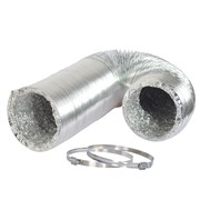 "HYC 12""x25' Alum Ducting Flexible w/ Clamps"