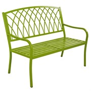 Innova Lancaster Steel Bench Urban Green