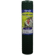 "Tenax 3'X25' Poultry Fence Green .78""X.74"" Mesh"