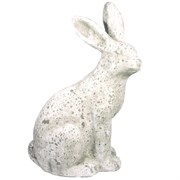 "MCarr 19.3"" Tall Rabbit Facing Right White"