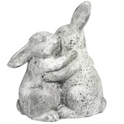 "MCarr 10"" Kissing Rabbits White"