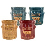 "MCarr 4PC 7.9"" Dairy Cow Pltr Set"