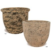 MCarr 40pc Sandblasted Belly & Egg Planter Collection Indigo Brown