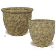 MCarr 40pc Sandblasted Belly & Egg Planter Collection Mossy Yellow
